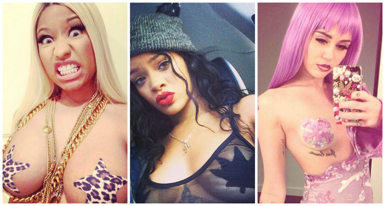 Nicki Minaj, Rihanna, Miley Cyrus