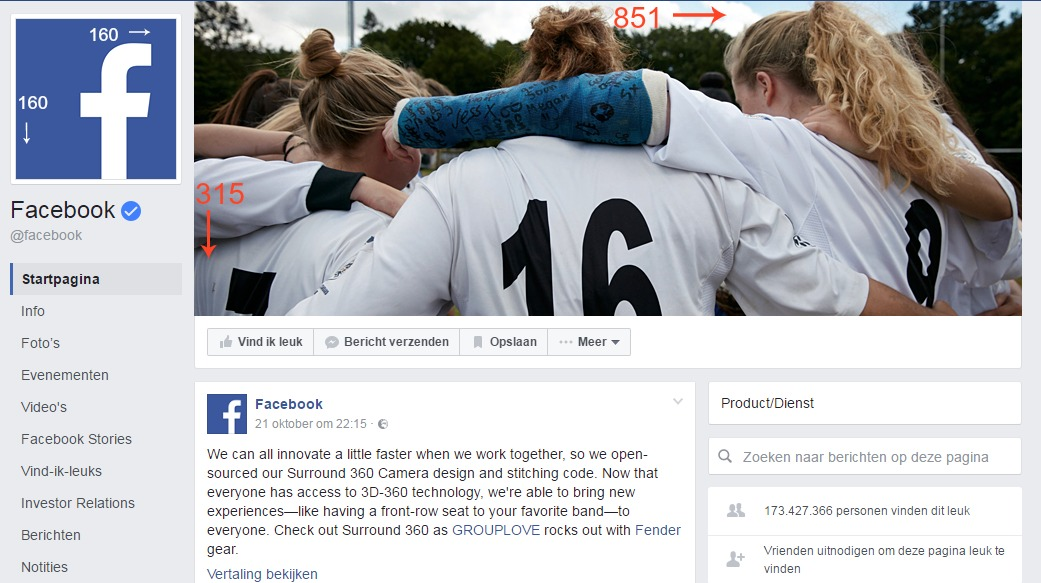 Facebook formaten: update omslagfoto en profielfoto