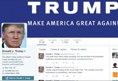 Ontslagen medewerker van Twitter deactiveerde acoount Donald Trump