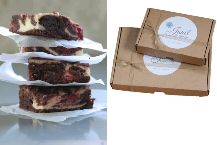 Handmade brownies in je brievenbus