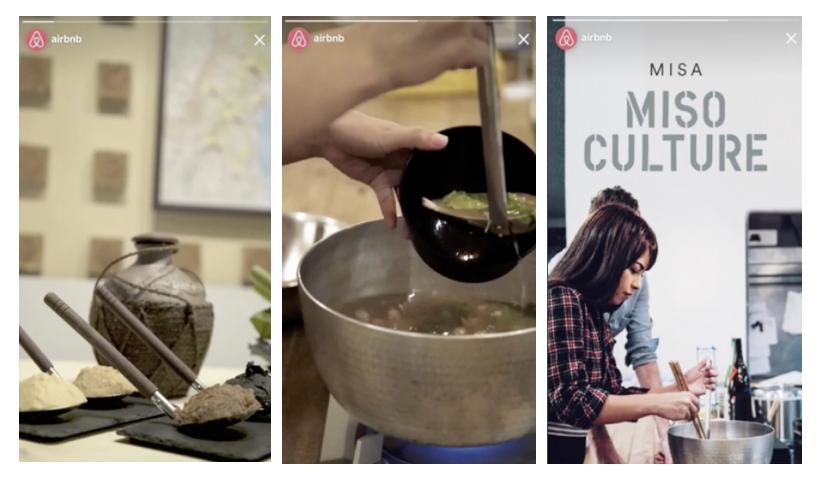 Social media trends 2018 Instagram Stories - Airbnb stills