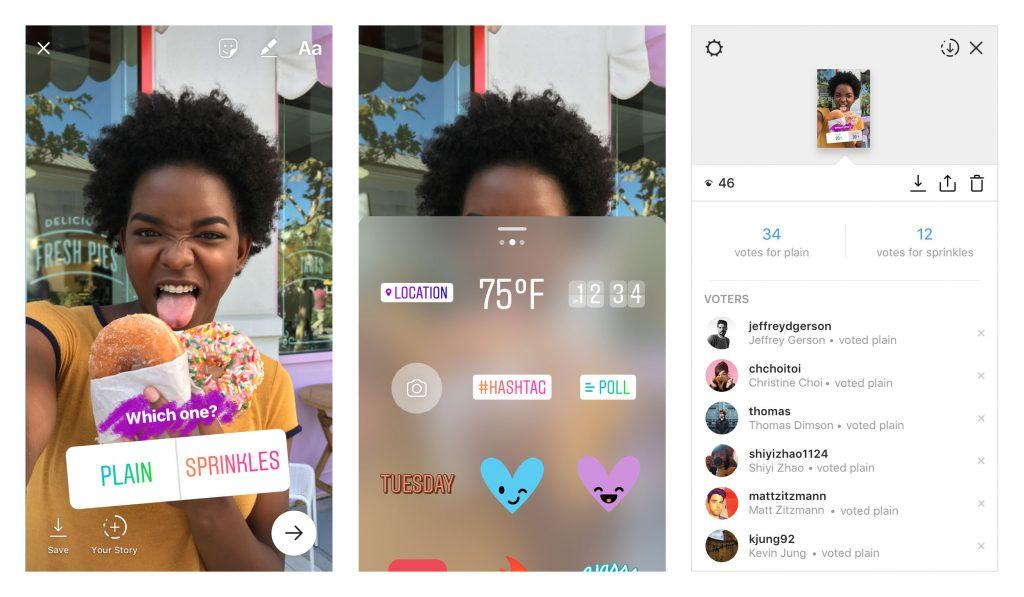 Social media trends 2018 Instagram poll