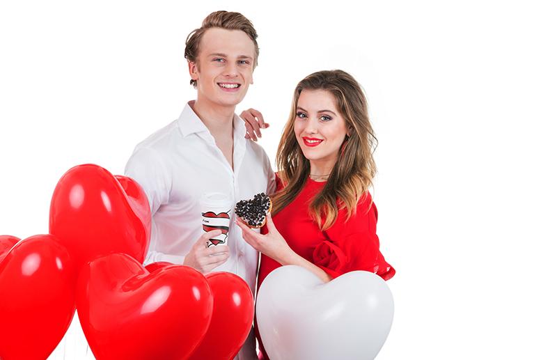 Valentijnscampagne met Luca Borsato en zijn vriendin