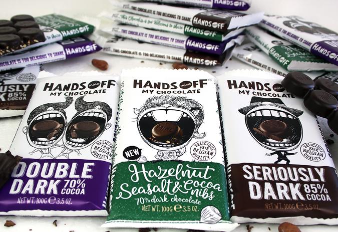 Vegan chocolade van Hands off my chocolat