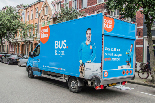 Coolblue tekst bus