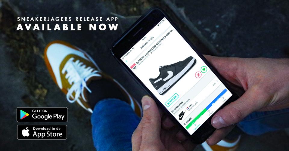 De nieuwste sneaker releases in de Sneakerjagers app