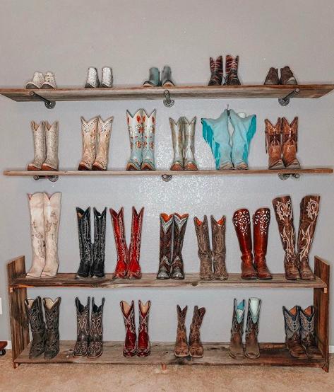 Schoenentrends 2019 - western boots walk-in closet