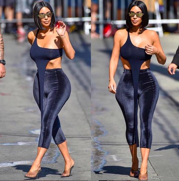 Schoenentrends 2019 - Kim Kardashian op doorzichtige pumps