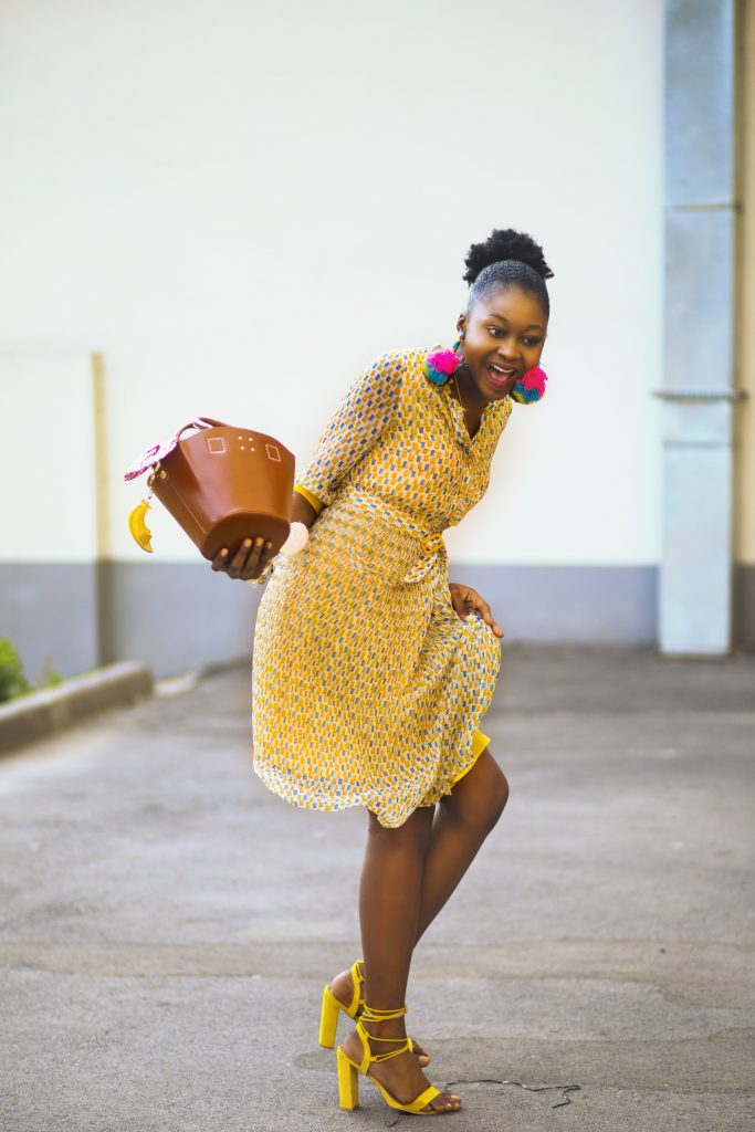 Lentegeel waar je vrolijk van wordt - gele schoenen