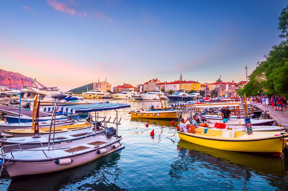 Havenstadje Budva in Montenegro