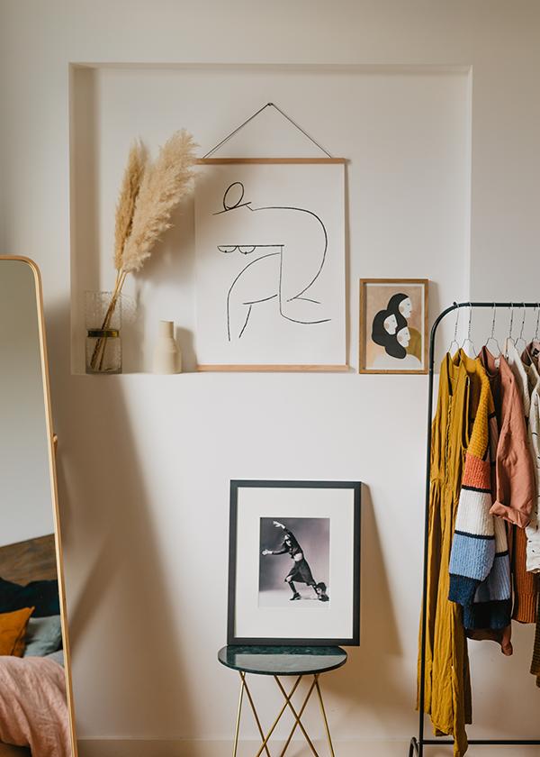 Een abstracte naakt schets