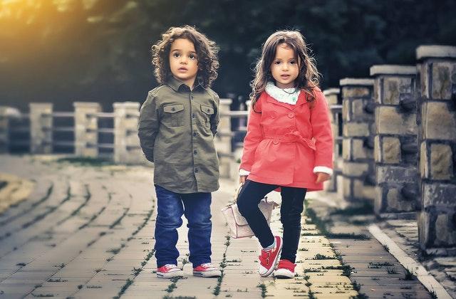 rode winterjas meisjes