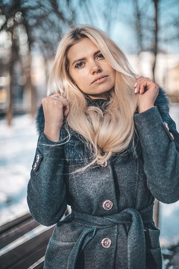 Dames winterjassen - parka met bontkraag