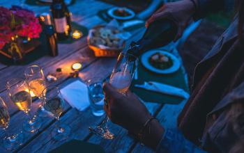 In oktober wijnen op je terras