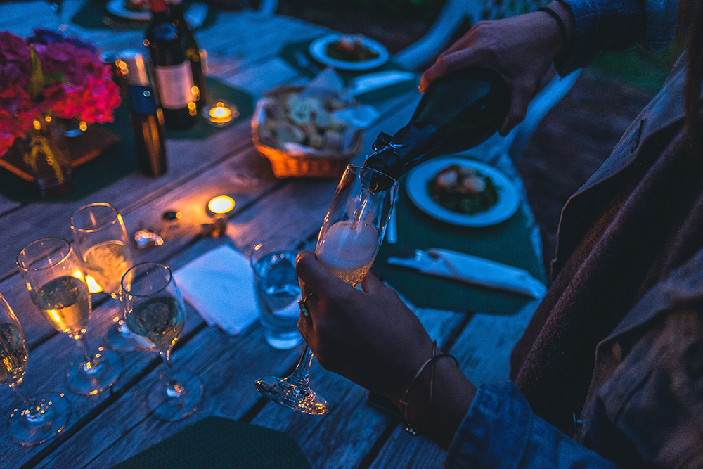Zo kan je ook in oktober lekker wijnen op je terras