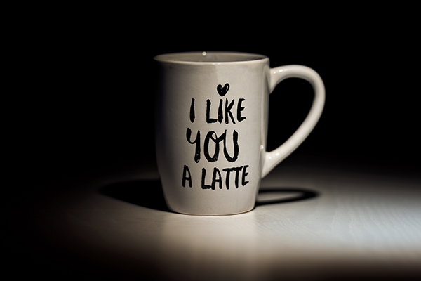 Koffiemok quotes - I like you a latte