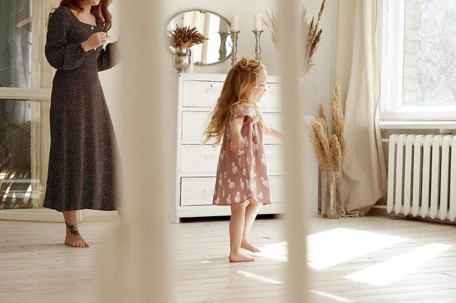 Moeder en dochter in 2019 jurk