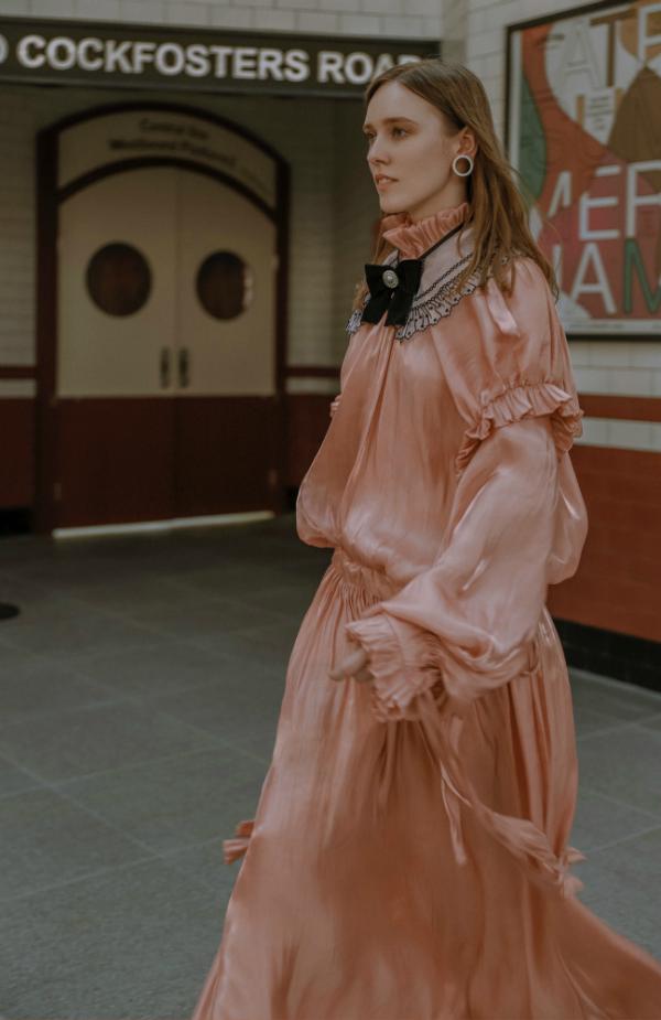 Roze Victoriaanse jurk