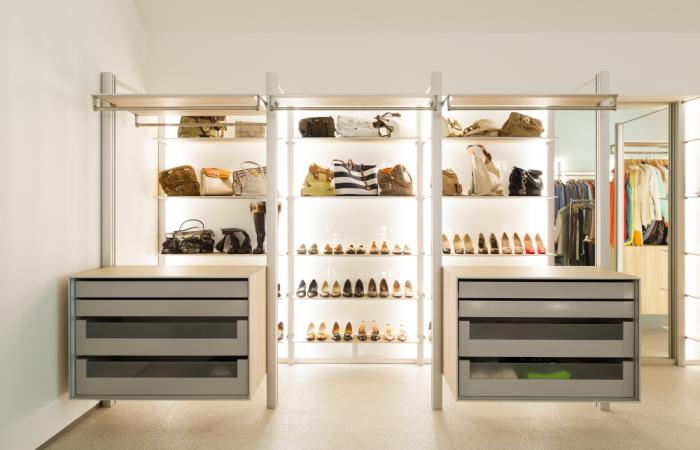 Walk-in closet voor elke vrouw