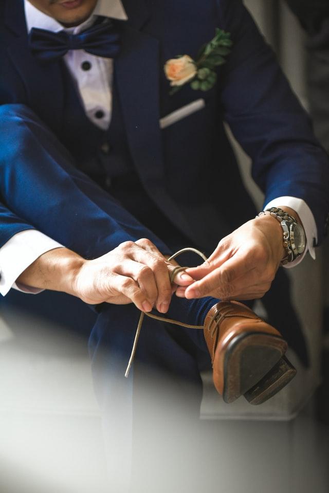 Een klassiek trouwpak