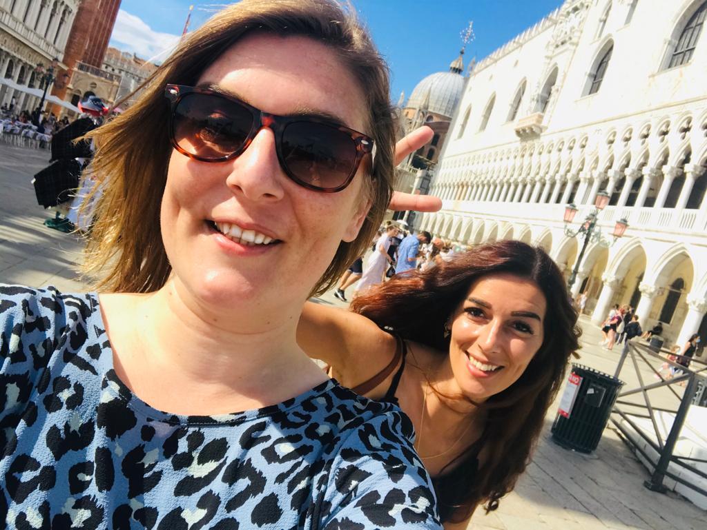 Selfies op het San Marcoplein