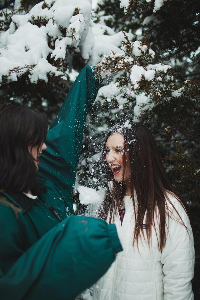 Groene winterjas