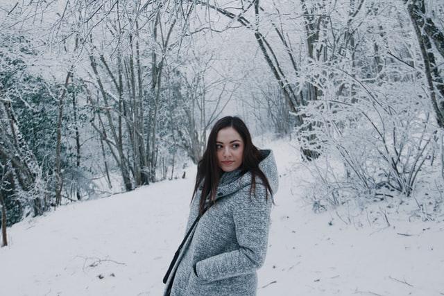 Warme dames winterjas