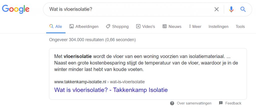 Google 0-resultaten