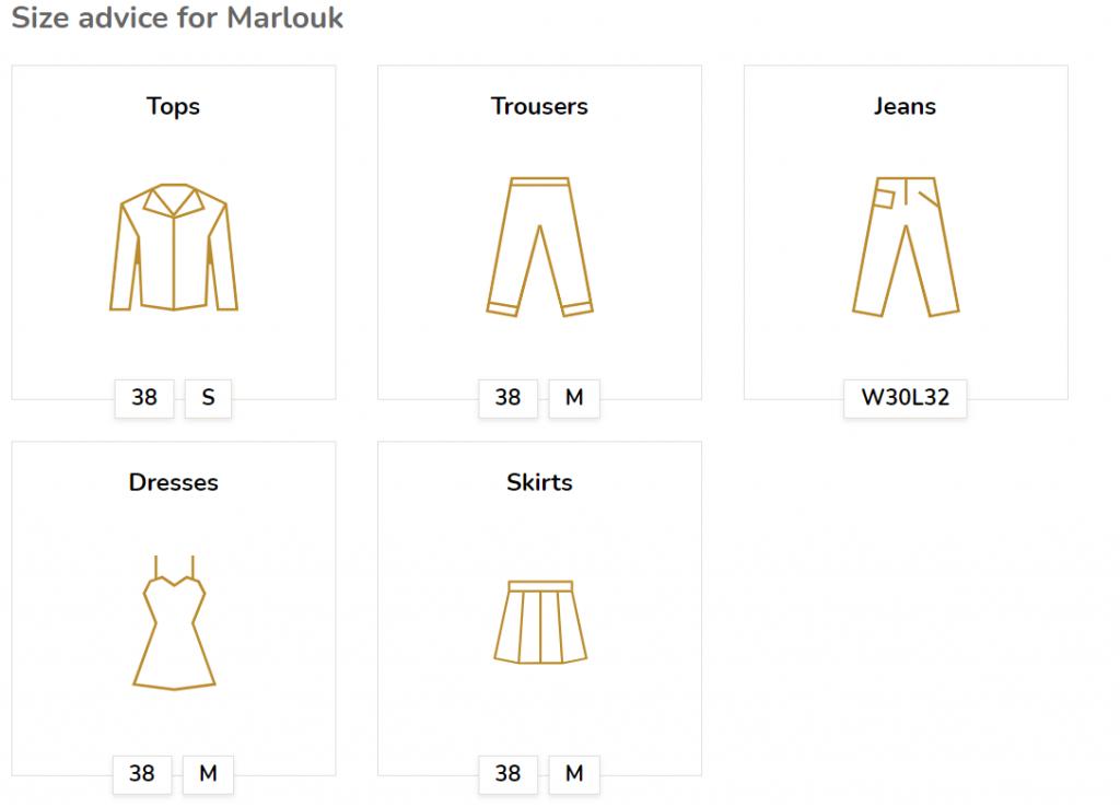 Online kleding passen - maatadvies bij bekende kledingmerken
