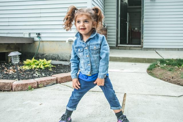 De denim2denim trend voor kinderen