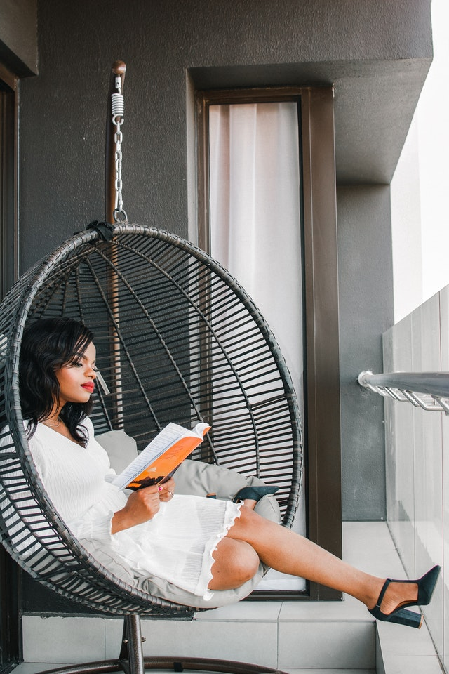 Mooiste 2021 terrassen - schommelstoel