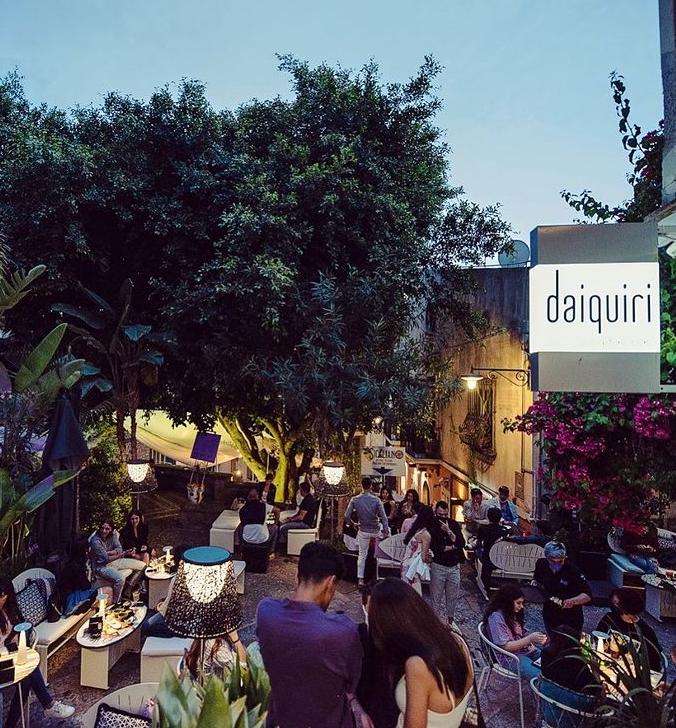 Daiquiri Loune en cocktailbar - hotspots in Taormina