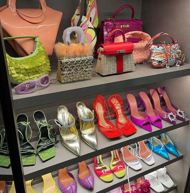 De schoenenkast van Kylie Jenner