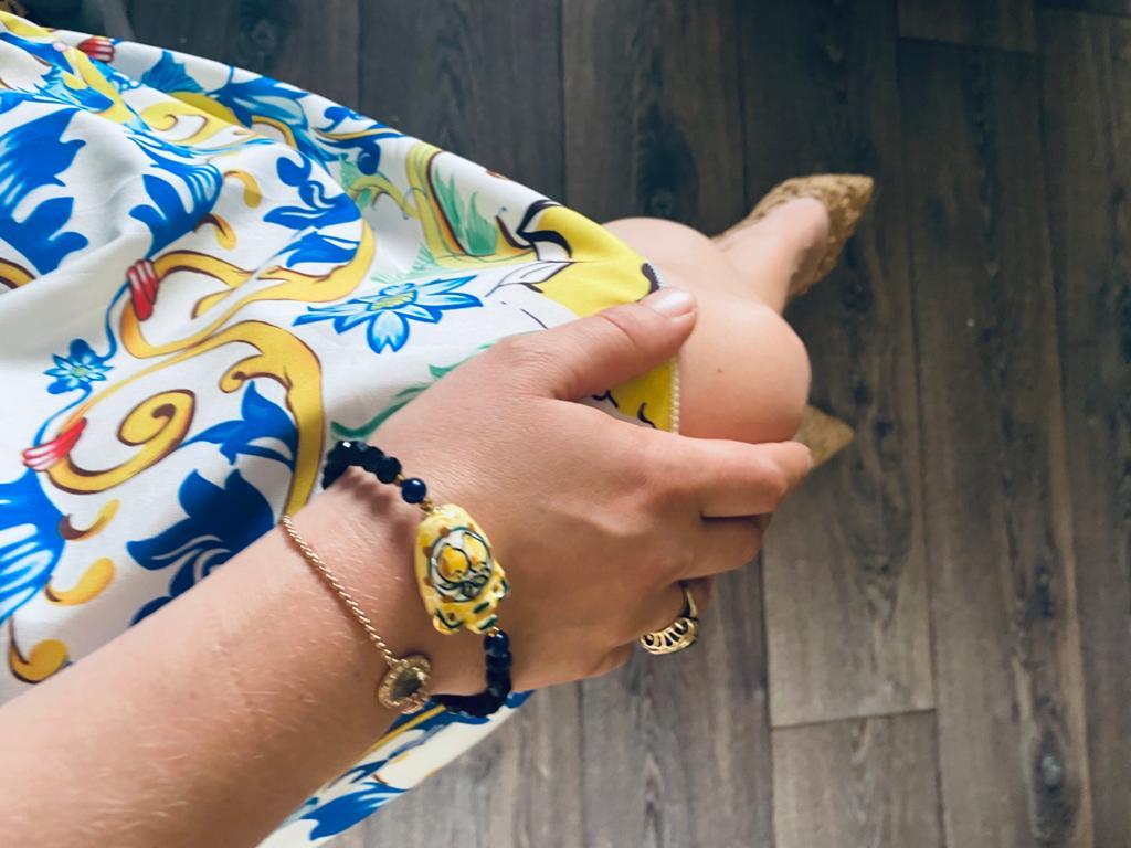 Handgemaakte armband keramiek Fara Taormina - Sicilië