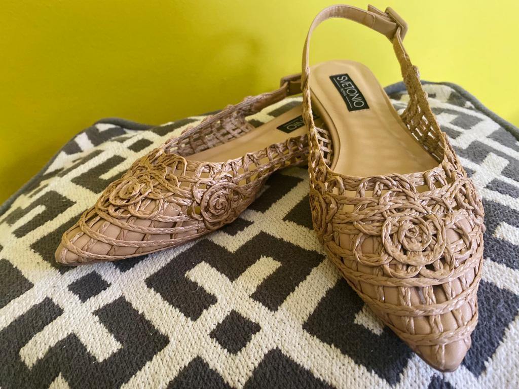 Rieten schoenen - ballerina's - Fara Taormina