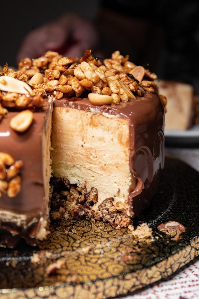 Chocoladetaart met noten