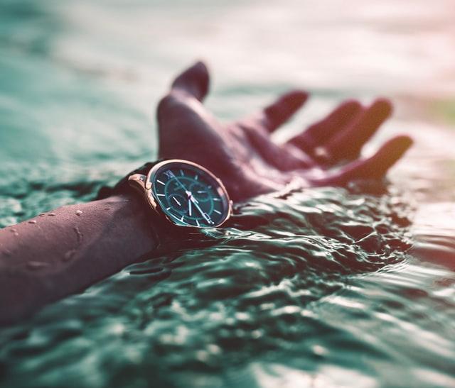 Een waterproof horloge