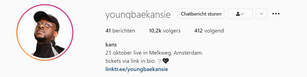 YOUNGBAEKANSIE op Instagram