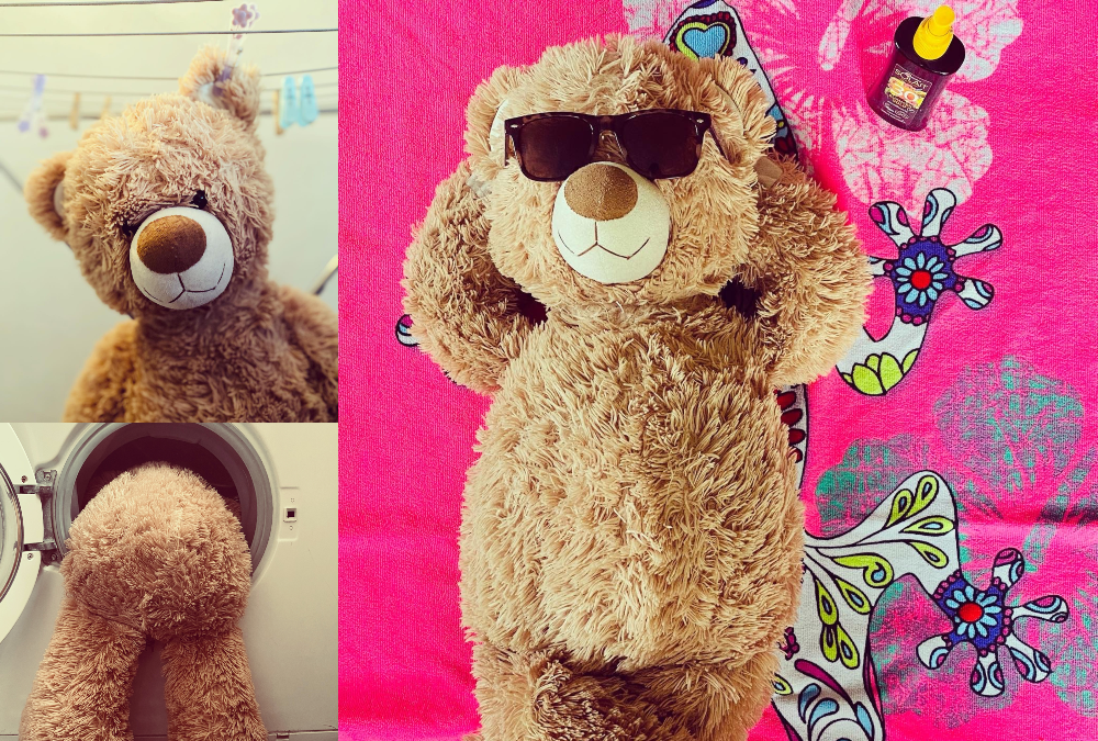 Thuis fotograferen met teddyberen